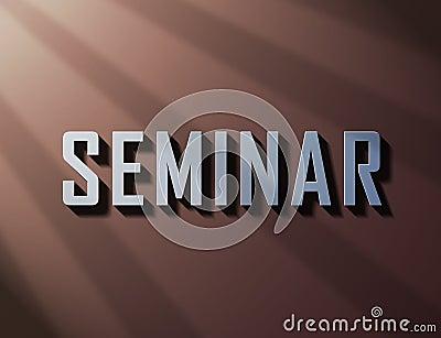 Seminar bright 3d text