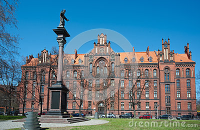 Seminary on Cathedral Island, Wroclaw Editorial Stock Photo
