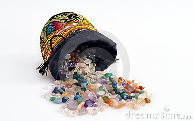 Semiprecious gems out of a sacket Stock Photo
