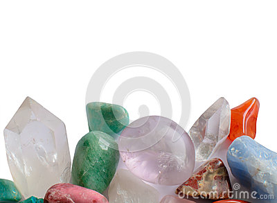 Semiprecious gemstones Stock Photo
