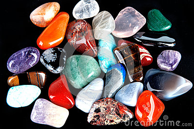 Semiprecious stones Stock Photo
