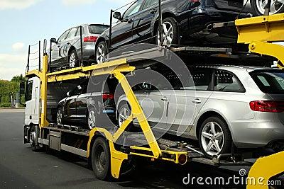 Semitrailer. Road transport.