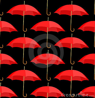 Semless a background from red umbrellas