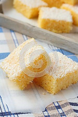 Semolina cake with coconut