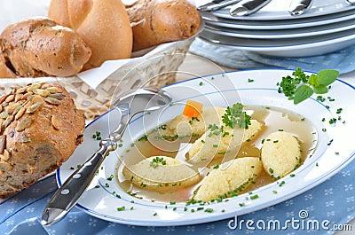 Semolina Dumpling Soup Royalty Free Stock Photography - Image ...