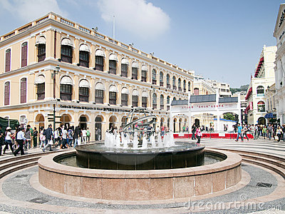 Senado square , Macao Editorial Photo