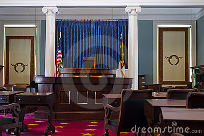 The senate chamber in North Carolina historic capi