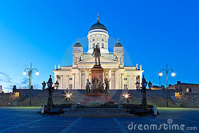 Senate Square And Helsinki Cathedral Royalty Free Stock Photo ...