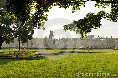 Senate Square of Saint Petersburg Editorial Stock Photo