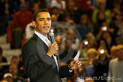 Senator Barack Obama Editorial Stock Photo