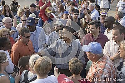 Senator Barak Obama campaigning for President Editorial Stock Photo