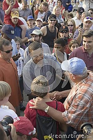 Senator Barak Obama campaigning for President Editorial Image