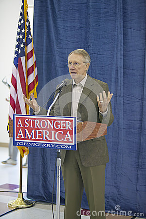 Senator Harry Reid Editorial Stock Photo