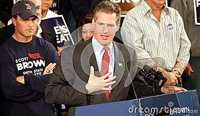 Senator Scott Brown sincere gesture Editorial Photo