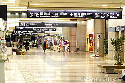 Sendai-Flughafen Redaktionelles Foto