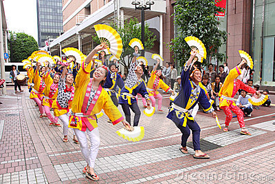 Japan : Sendai Suzume Odori 2011 Editorial Stock Photo