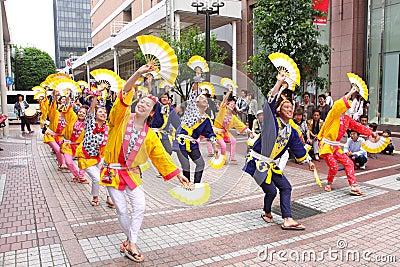 Japan : Sendai Suzume Odori 2011 Editorial Stock Image