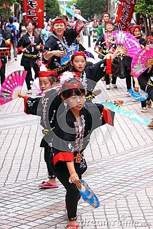 Japan : Sendai Suzume Odori 2011 Editorial Image