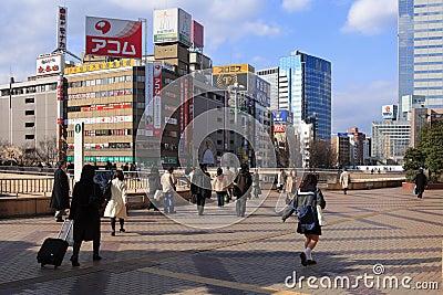 Sendai train station Editorial Stock Image
