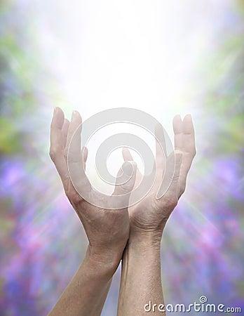 Sending Healing Energy Stock Photo Image 45381474
