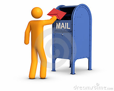 Sending Letter Royalty Free Stock Photos - Image: 20484598