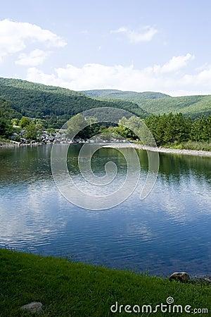 Seneca Rocks Mountain River