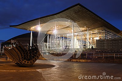 Senedd in Cardiff Bay, Wales