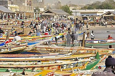 Senegal fish market Editorial Stock Image