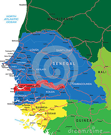 Senegal map