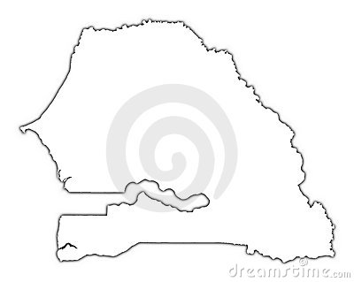 Senegal outline map