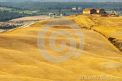 Senesi de Crete, paisagem característica no d Orcia de Val