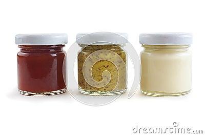 Senf, Mayo und Soße