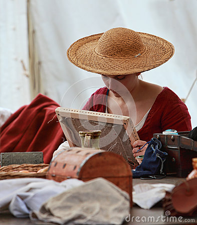 Senhora medieval Foto Editorial
