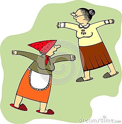 Senhoras idosas