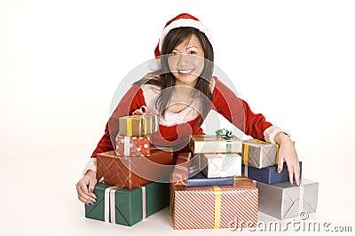 Senhorita bonita Santa