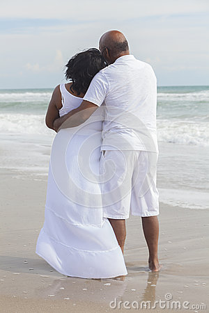 Senior African American Couple on Beach
