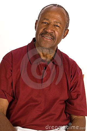Senior African American man.