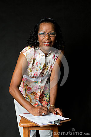 Senior African American Woman Royalty Free Stock Images - Image: 26607299