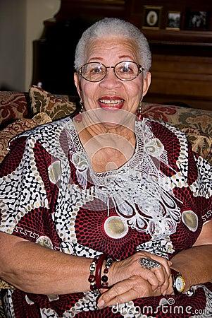 Senior African American woman.