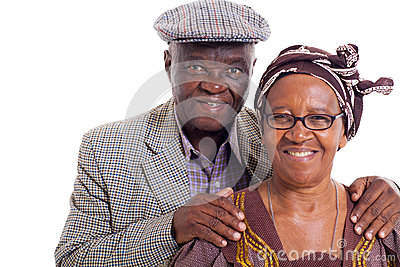 Senior african couple