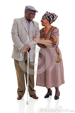 Senior african couple