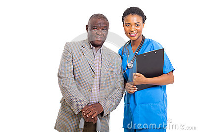 Senior african man nurse