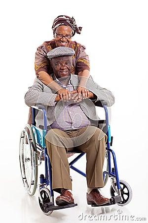 Senior african wife husband