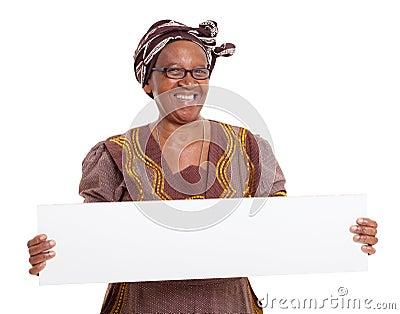 Senior african woman banner