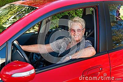 Senior as a car driver
