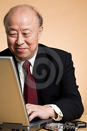 Free Senior Asian Businessman Royalty Free Stock Photography - 5236127