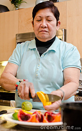 Senior asian filipino woman