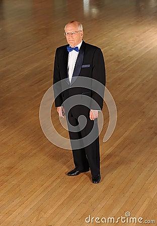Senior ballroom dancer