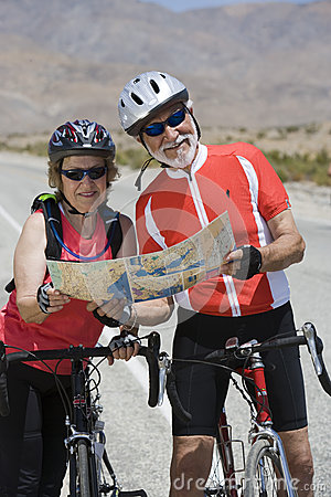 Senior Bicyclists Reading Map