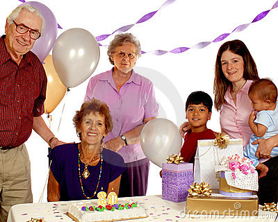 Senior Birthday Party Royalty Free Stock Photo Image